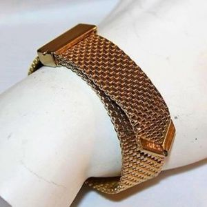 Unique Gold Mesh Slide Bracelet BRL3